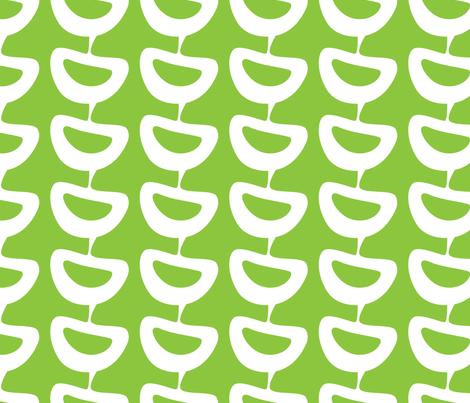 Sliced ~ leaf green fabric by retrorudolphs on Spoonflower - custom fabric