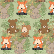 Forest Animals in Automn