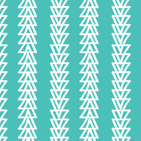 Geese Fly Over: Turquoise fabric by cleolovescolor on Spoonflower - custom fabric
