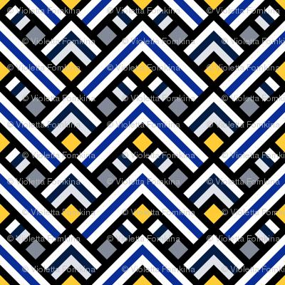 Chevrons in ethnic style