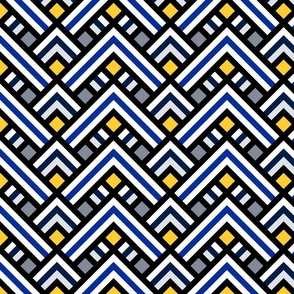 Chevrons in ethnic style