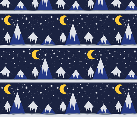 NightMountains fabric by cathiedesigns on Spoonflower - custom fabric