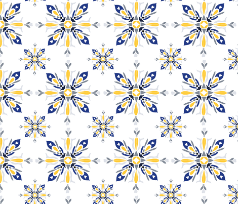 Winter Star fabric by bees_that_buzz on Spoonflower - custom fabric
