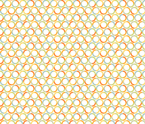 Colorful pattern of circles fabric by milagrosvita on Spoonflower - custom fabric