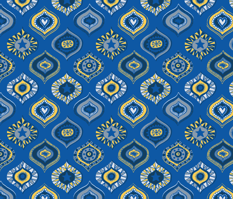 Cobalt Baubles fabric by seesawboomerang on Spoonflower - custom fabric