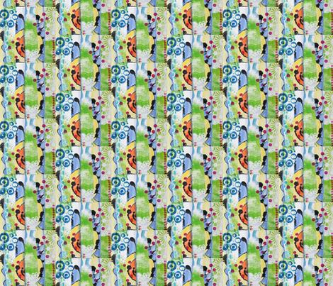 Fragmented Flower fabric by the_hoarder's_art_room on Spoonflower - custom fabric