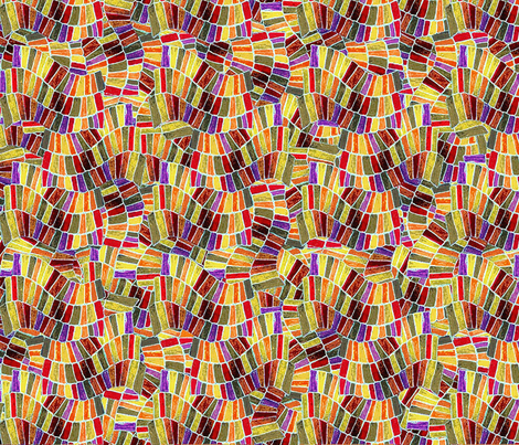 Chiclet Weave - Autumn Invert fabric by engravogirl on Spoonflower - custom fabric