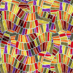 Chiclet Weave - Autumn Invert