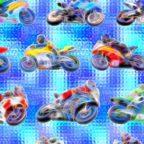 Motobikes 2 - Blue Glass Background