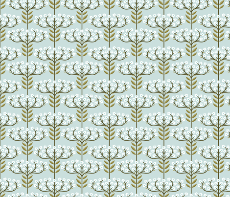 Tiny Buds fabric by andie_hanna on Spoonflower - custom fabric