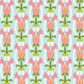 Pop floral Damask