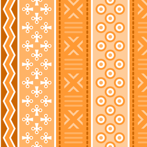 06899043 : mudcloth : orange peach ginger fabric by sef on Spoonflower - custom fabric