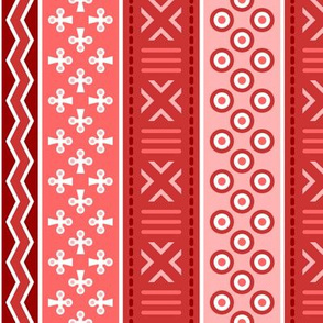 06899075 : mudcloth : scarlet red