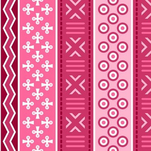 06899112 : mudcloth : crimson pink