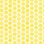 Watercolor Lemon Hexagon