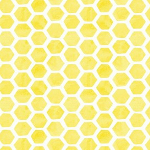 Watercolor Lemon Hexagon
