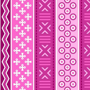 06899178 : mudcloth : magenta pink