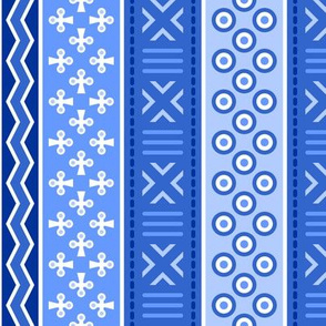 06899211 : mudcloth : sapphire blue