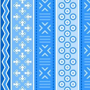 06899212 : mudcloth : azure blue