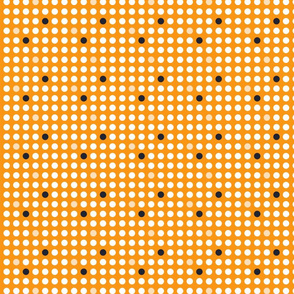 Modern white dots on orange