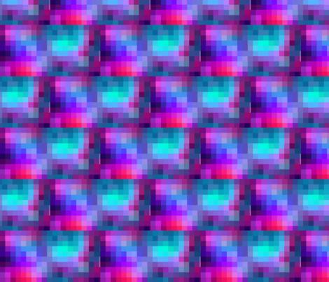 Pixel pastel galaxy fabric by puppydragonnerd on Spoonflower - custom fabric