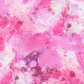 Watercolour Abstract Paint & Splatters Pink