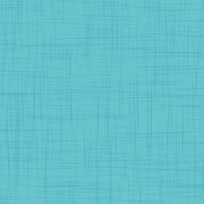 Soft solid linen texture // turquoise blue