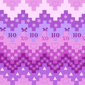 Holiday purple // lilac, ultraviolet, plum // Christmas  chevron// Christmas  snowflake // Holiday snowflakes //  hearts//   by Magenta Rose Designs