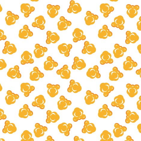 Scattered Popcorn on White fabric by anderson_designs on Spoonflower - custom fabric