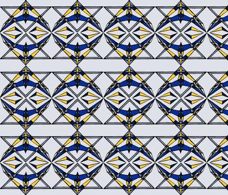 Winter_geometric_design fabric by atarahash on Spoonflower - custom fabric
