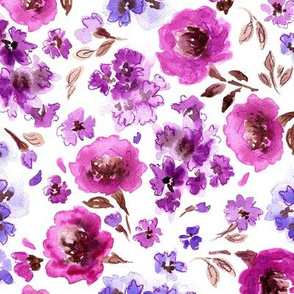 Lavender and Magenta Florals