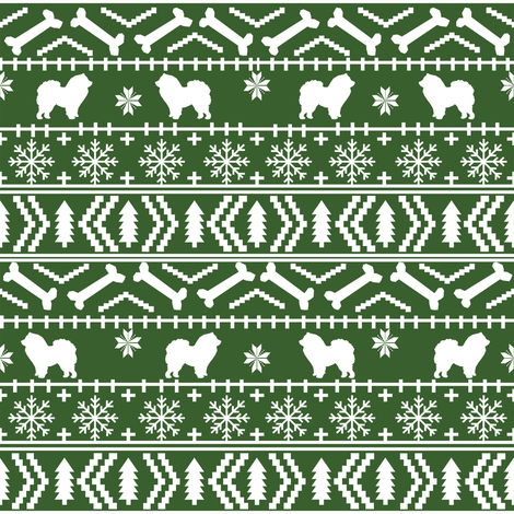 Chow Chow fair isle christmas dog breed fabric ugly sweater med ...
