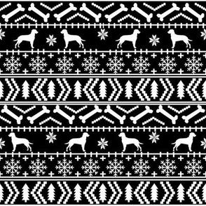 Dalmatian fair isle christmas dog breed fabric ugly sweater black and white