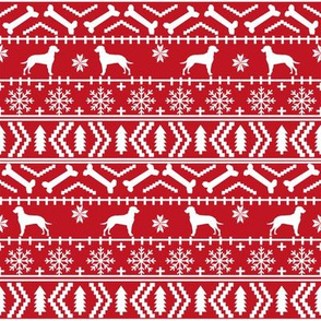 Dalmatian fair isle christmas dog breed fabric ugly sweater red