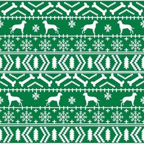 Dalmatian fair isle christmas dog breed fabric ugly sweater green