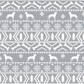 Dalmatian fair isle christmas dog breed fabric ugly sweater grey