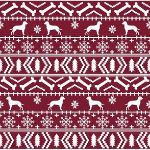 Dalmatian fair isle christmas dog breed fabric ugly sweater ruby
