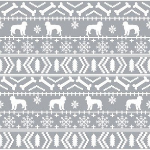 Golden Doodle fair isle christmas dog breed fabric ugly sweater grey