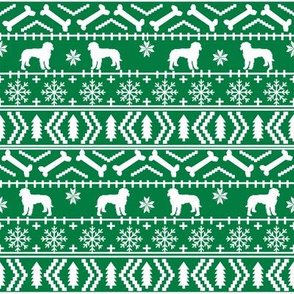 Golden Doodle fair isle christmas dog breed fabric ugly sweater green