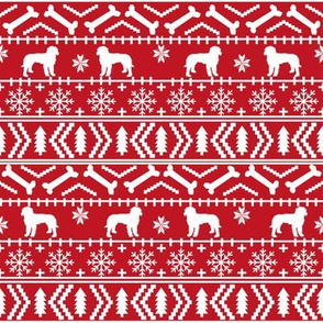 Golden Doodle fair isle christmas dog breed fabric ugly sweater red