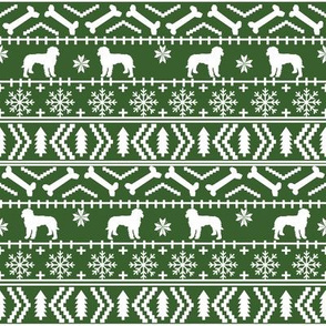 Golden Doodle fair isle christmas dog breed fabric ugly sweater med green