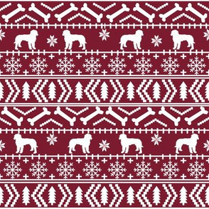 Golden Doodle fair isle christmas dog breed fabric ugly sweater ruby