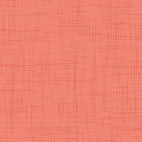 Soft solid linen texture // coral