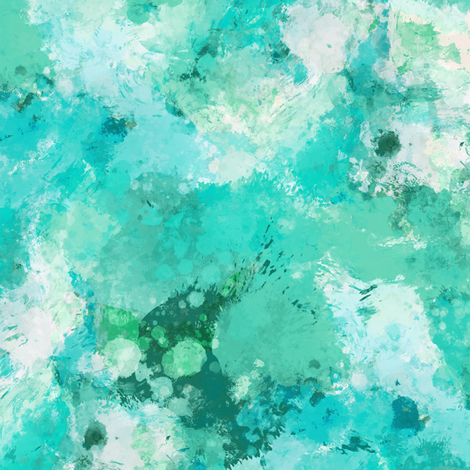 Watercolour Abstract Paint & Splatters Green Mint fabric by caja_design on Spoonflower - custom fabric
