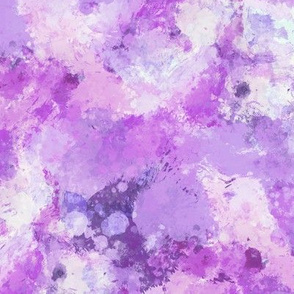Watercolour Abstract Paint & Splatters Purple Lilac