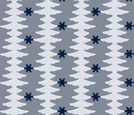 Winter Branches fabric by dahliabunny on Spoonflower - custom fabric