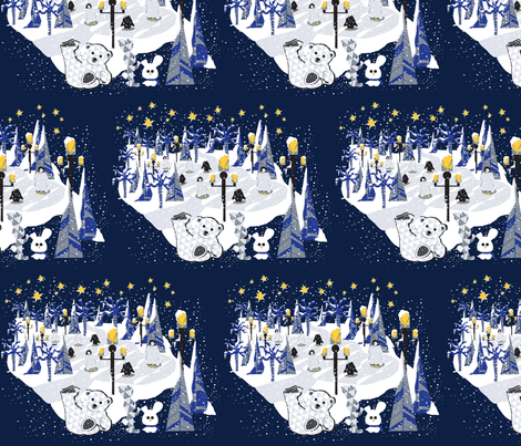 Ice skating rink fabric by everhigh on Spoonflower - custom fabric