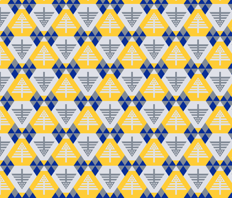 chalet mod in sunglow fabric by crystalgates on Spoonflower - custom fabric