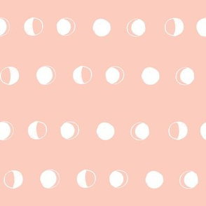 moon phases fabric // astronomy night sky moon eclipse full moons design blush