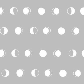 moon phases fabric // astronomy night sky moon eclipse full moons design grey